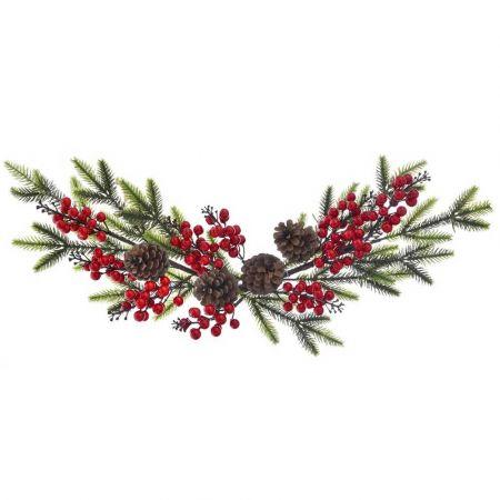 Σύνθεση με κλαδιά από έλατο, berries και κουκουνάρια 65cm
