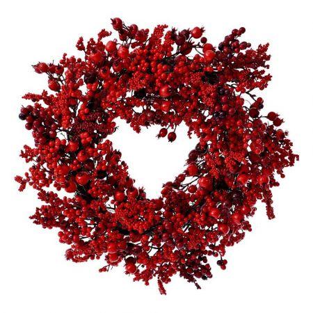 Χριστουγεννιάτικο στεφάνι Berries Κόκκινο 50cm