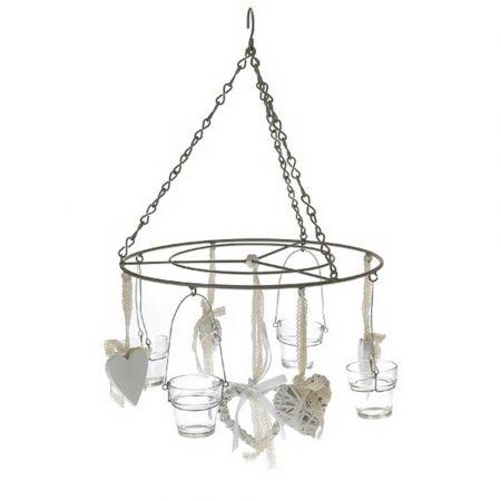 Διακοσμητικό κρεμαστό με καρδιές και κηροπήγια 45x75cm
