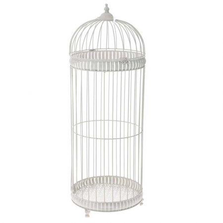 Διακοσμητικό κλουβί μεταλλικό Κρεμ 34x96cm