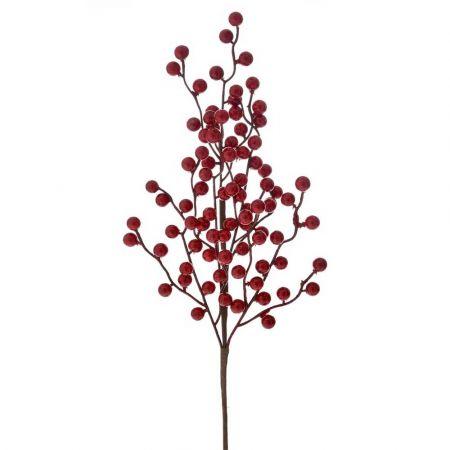 Χριστουγεννιάτικο κλαδί Berries - Γκι Κόκκινο 60cm