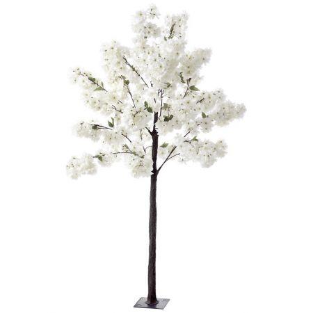 Διακοσμητικό δέντρο κερασιάς με λευκά άνθη, 180cm