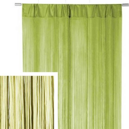 Διακοσμητική κουρτίνα κρόσσι Πράσινη 90x200cm