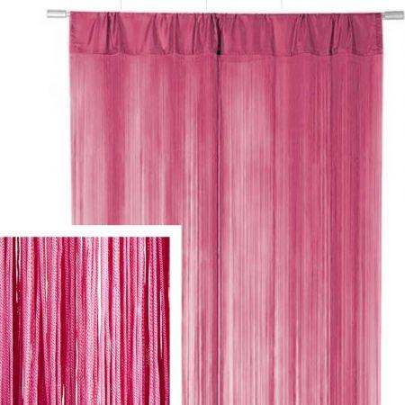 Διακοσμητική κουρτίνα κρόσσι Ροζ 90x200cm