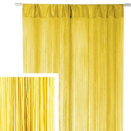 Διακοσμητική κουρτίνα κρόσσι Κίτρινη 90x200cm