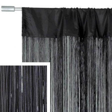 Διακοσμητική κουρτίνα κρόσσι Γκρι σκούρο 90x200cm