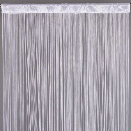 Διακοσμητική κουρτίνα κρόσσι Λευκή 90x200cm