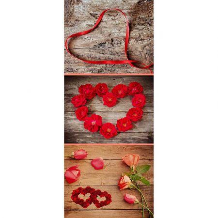 Διακοσμητική αφίσα με Καρδιές 180x75cm