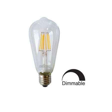 Λάμπα Γλόμπος ST64 LED Filament Universe 6W Dimmable