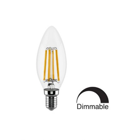 Λάμπα Κερί C35 LED Filament Universe 4W Dimmable