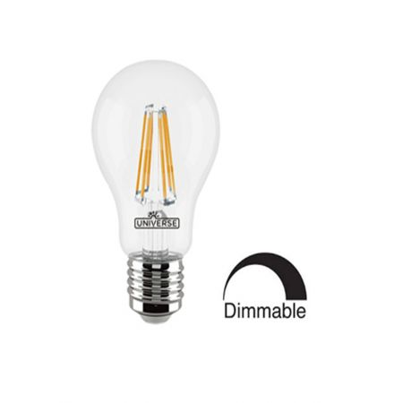 Λάμπα A60 LED Filament Universe 6W Dimmable