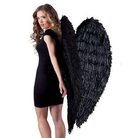 Διακοσμητικά φτερά αγγέλου Μαύρα 120x120cm