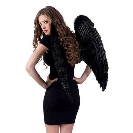 Διακοσμητικά φτερά αγγέλου Μαύρα 87x72cm