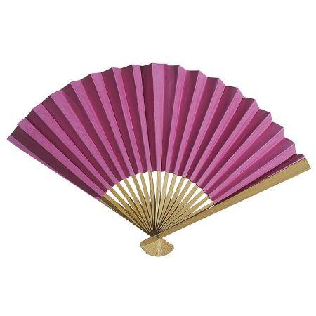 Διακοσμητική κινέζικη Βεντάλια χάρτινη ροζ, 40x25cm