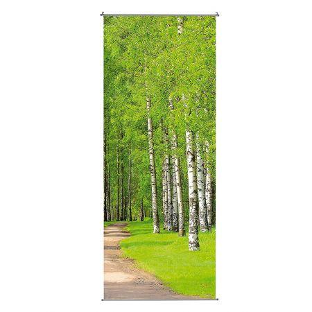 Διακοσμητική αφίσα - Banner από ύφασμα - Birch Forest - 100x250cm