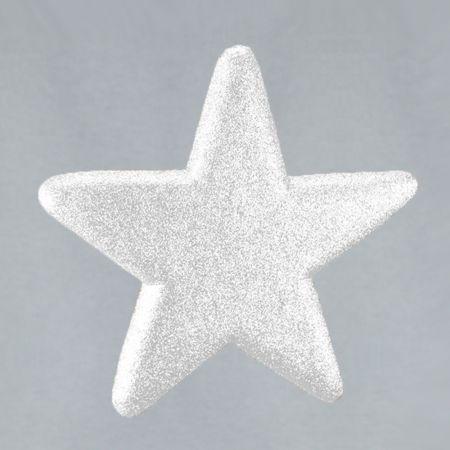 Διακοσμητικό Χριστουγεννιάτικο αστέρι με glitter Λευκό 40cm
