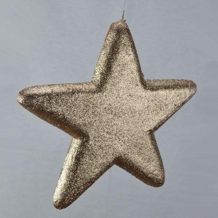 Διακοσμητικό χριστουγεννιάτικο αστέρι Σαμπανί, 40cm