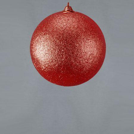 XL Διακοσμητική χριστουγεννιάτικη μπάλα Glitter Κόκκινο 18cm