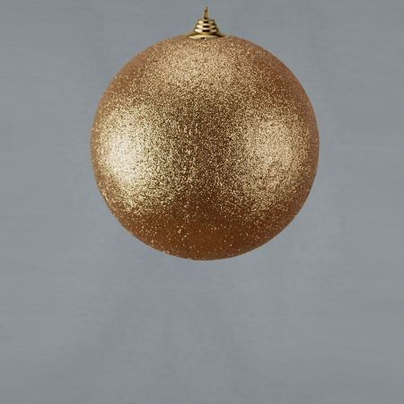 XL Διακοσμητική χριστουγεννιάτικη μπάλα Glitter Σαμπανί 18cm