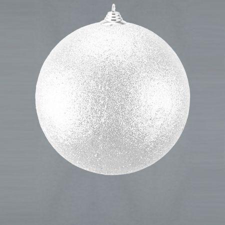 XL Διακοσμητική χριστουγεννιάτικη μπάλα, Λευκή, 25cm