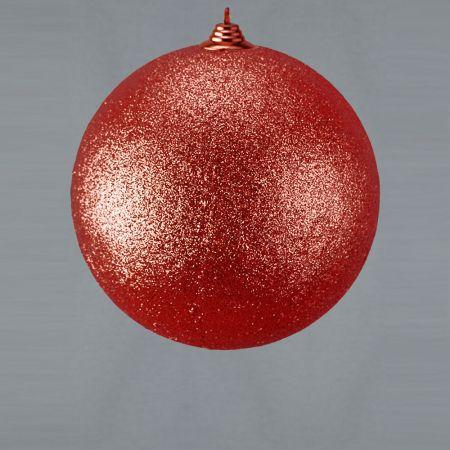 XL Διακοσμητική χριστουγεννιάτικη μπάλα Κόκκινη, 25cm