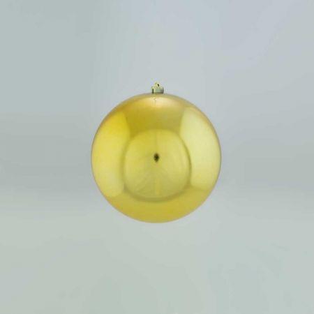 XL Διακοσμητική χριστουγεννιάτικη μπάλα Χρυσή, 12cm