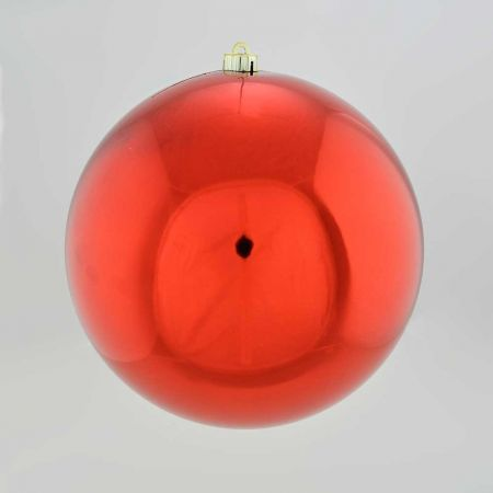 XL Διακοσμητική χριστουγεννιάτικη μπάλα Κόκκινη γυαλιστερή 30cm
