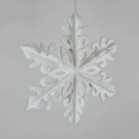 Διακοσμητική Χριστουγεννιάτικη κρεμαστή χιονονιφάδα 50cm