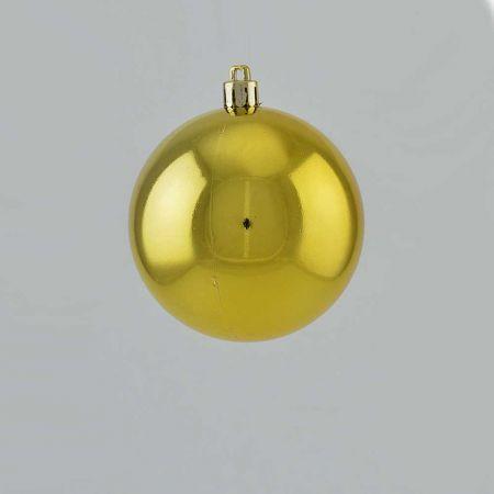 Χριστουγεννιάτικη μπάλα πλαστική Χρυσή γυαλιστερή 8cm