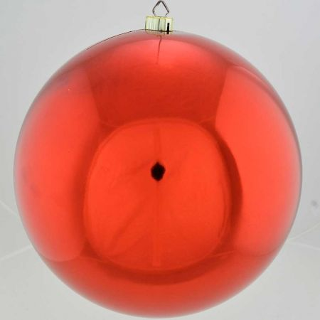 XL Διακοσμητική χριστουγεννιάτικη μπάλα Κόκκινη γυαλιστερή 40cm