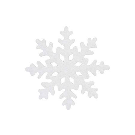 Κρεμαστή νιφάδα χιονιού Λευκή χιονισμένη 25cm
