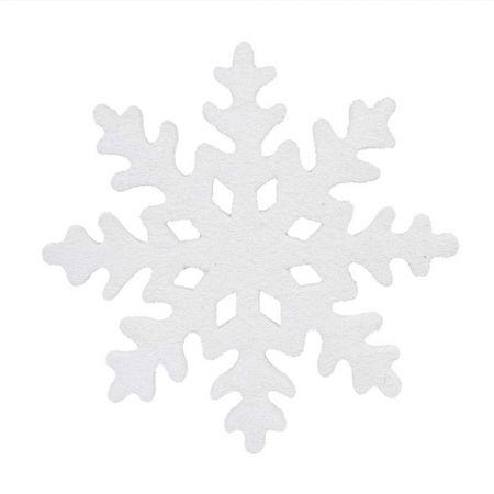 Κρεμαστή νιφάδα χιονιού Λευκή χιονισμένη 50cm