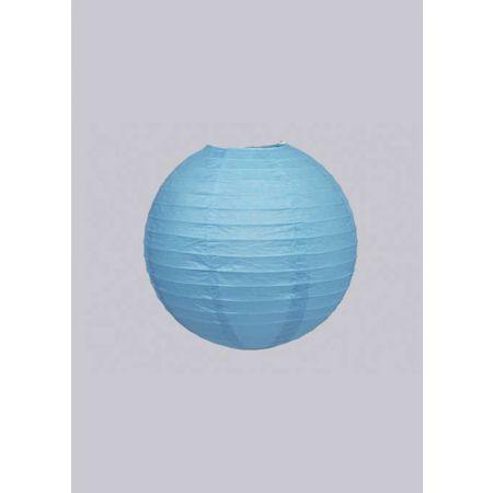 Διακοσμητικό φανάρι - μπάλα Μπλε 15cm