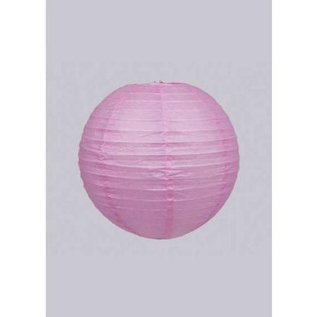 Διακοσμητικό φανάρι - μπάλα Ροζ 20cm