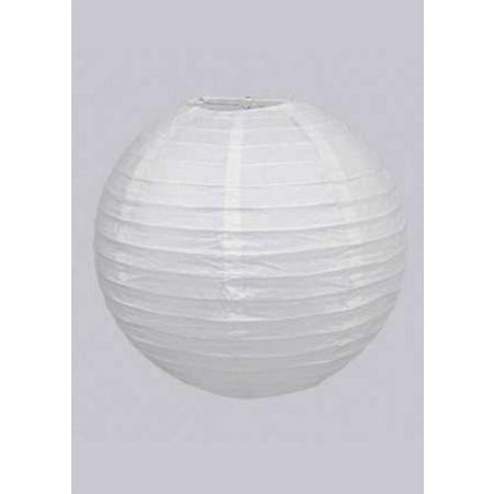 Διακοσμητικό φανάρι - μπάλα Λευκό 30cm