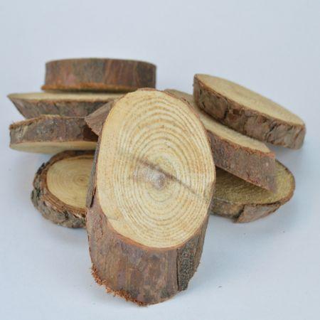 Σετ 500gr Διακοσμητικές ροδέλες ξύλου 11x7cm