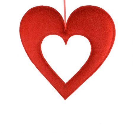 Διακοσμητική καρδιά με κενό 58x60cm