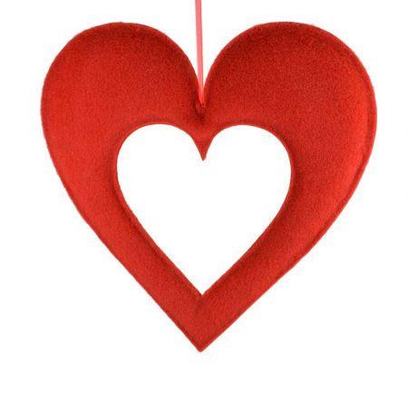 Διακοσμητική καρδιά με κενό 71x76cm