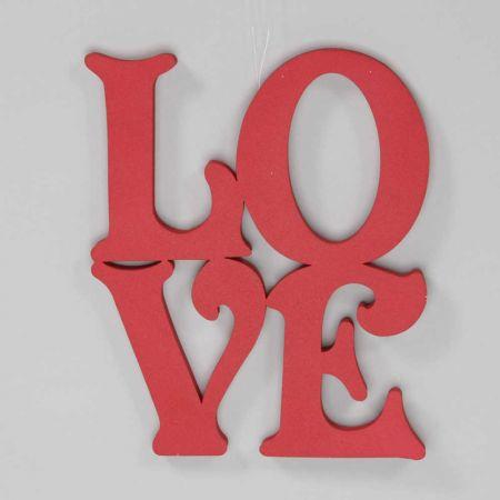 Διακοσμητικά γράμματα LOVE Κόκκινα 40x40cm