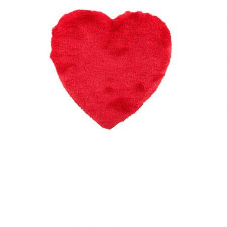 Διακοσμητική καρδιά Βαλεντίνου γούνινη Κόκκινη 40x34cm