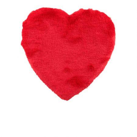 Διακοσμητική καρδιά Βαλεντίνου γούνινη Κόκκινη 30x30cm
