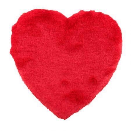 Διακοσμητική καρδιά Βαλεντίνου γούνινη Κόκκινη 38x38cm