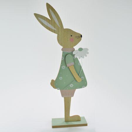 Ξύλινη Πασχαλινή φιγούρα Κουνελάκι Κορίτσι 61cm