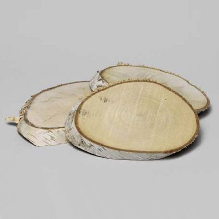 Διακοσμητική φυσική οβάλ ροδέλα ξύλου 19-23cm
