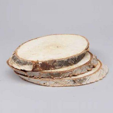 Διακοσμητική φυσική ροδέλα ξύλου με φλοιό 21-25cm