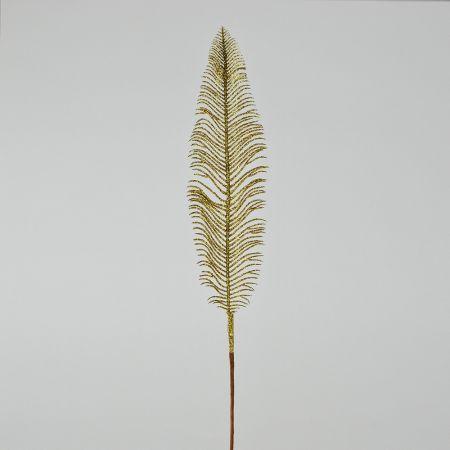 Διακοσμητικό Χριστουγεννιάτικο φτερό με glitter Χρυσό 56cm