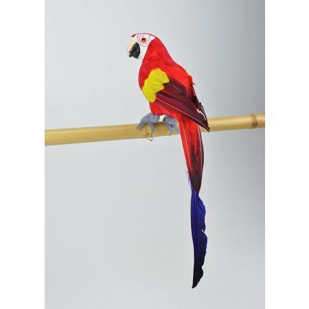 Διακοσμητικός παπαγάλος Κόκκινος 44cm