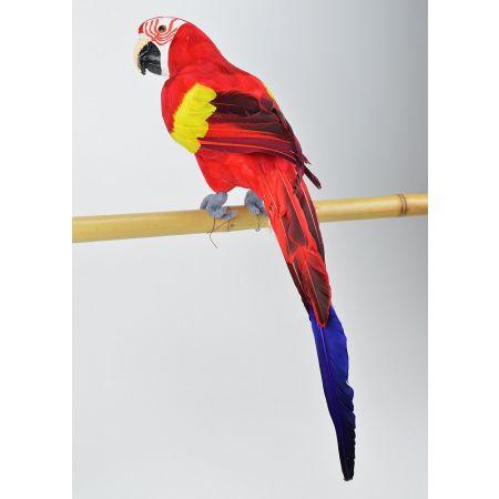 Διακοσμητικός παπαγάλος Κόκκινος 58cm