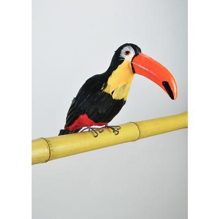 Διακοσμητικό τροπικό πουλί Τουκάν Μαύρο - Κίτρινο 37cm