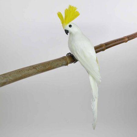 Διακοσμητικός Παπαγάλος Cacatoo Λευκός 35cm